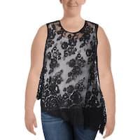 Karen Kane Womens Tank Top Lace Asymmetric