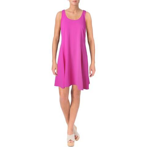 Lauren Ralph Lauren Womens Petites Casual Dress Matte Jersey Sleeveless