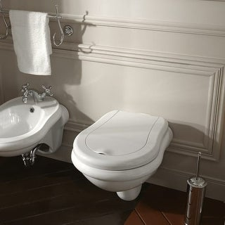 Rst Living Julian One Piece White Toilet Designer Set By