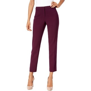 Calvin Klein Womens Petites Cropped Pants Signature Straight-Leg