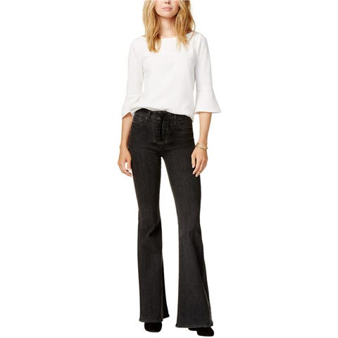 Hudson Womens Lace-Up Flared Jeans - 28 Regular