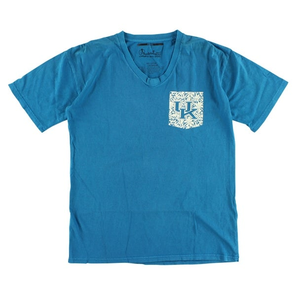 0b9db4fb14b3ff Shop Press Box Womens Kentucky Wildcats College Lace Logo V Neck T Shirt  Blue - Blue/White - On Sale - Free Shipping On Orders Over $45 - Overstock  - ...