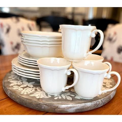 Red Vanilla Antique White Set of 4 Mugs