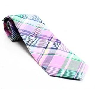 Lauren by Ralph Lauren NEW Pink Woven Shirt Plaid Mens Cotton Necktie