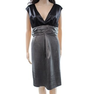 Max and Cleo NEW Black Colorblocked Women's Size 10 Empire Waist Dress