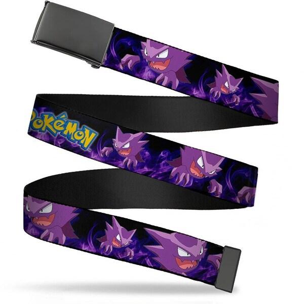 Blank Black Buckle Pokemon Haunter Poses Smoke Black Purples Webbing Web Belt