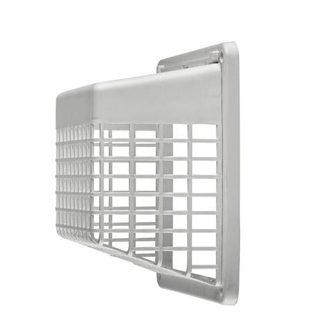 Lambro 1491WG Universal Hinged Vent Guard, Plastic, White