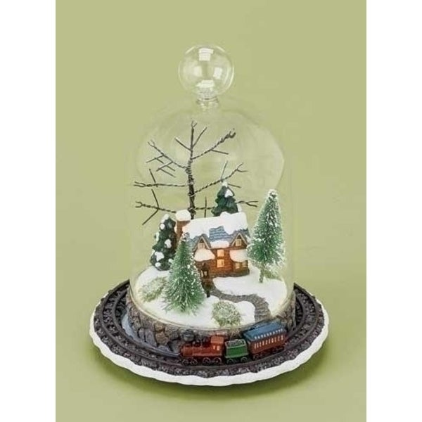"8"" LED Lighted Rotating Train and Winter Scene Christmas Table Top Decoration - multi"