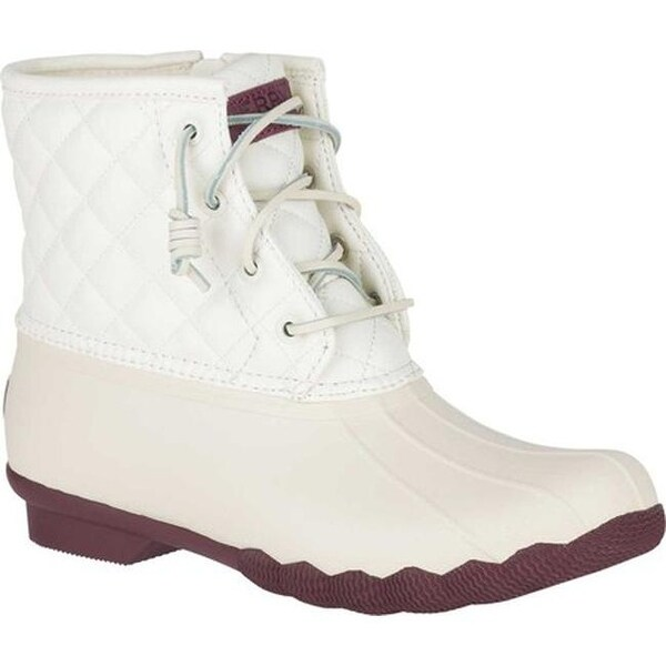 3bedcad10523 Sperry Top-Sider Women  x27 s Saltwater Duck Boot Ivory Quilted Synthetic
