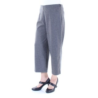Womens Gray Houndstooth Wear To Work Pants Size 8
