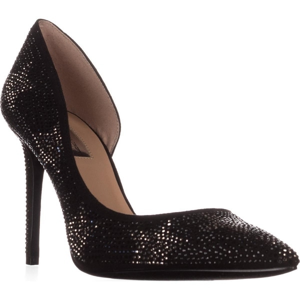 I35 Kenjay9 D'Orsay Pointed-Toe Heels, Black Stars