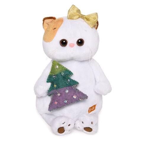 Kitty Li-Li with a Christmas Tree Stuffed Plush Toy