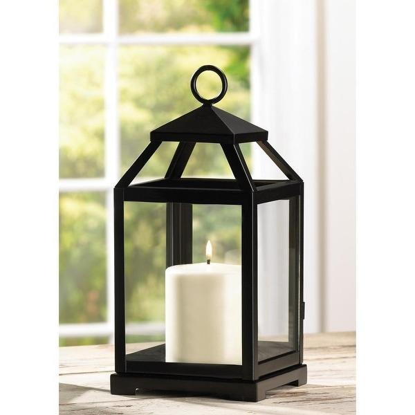 Contemporary Candle Lantern - Black