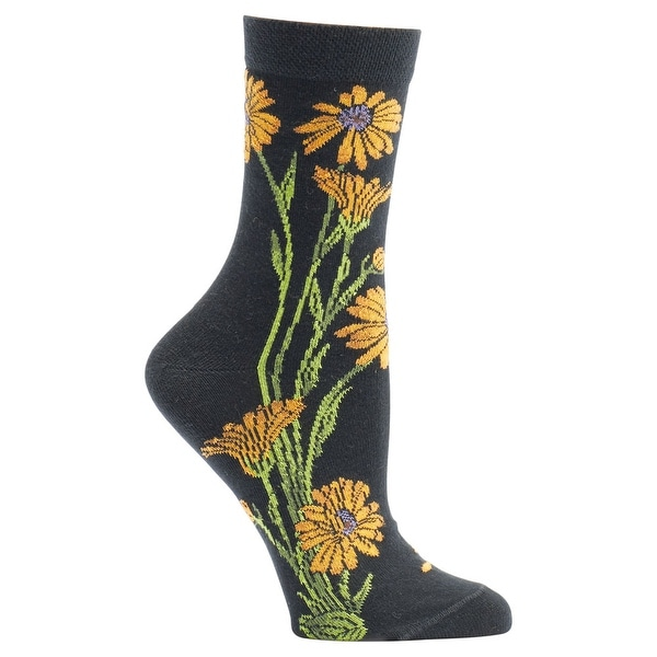 Women's Witches' Garden and Apothecary Floral Socks - Cotton - Marigold