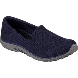 Skechers Relaxed Fit Reggae Fest Stitch Up Womens Slip On Loafers Navy