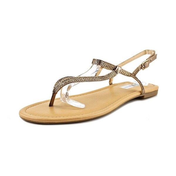 INC International Concepts Macawi 2 Women Canvas Bronze Slingback Sandal