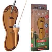 Tiki Toss 9994 Tee Toss Deluxe Golf, Wood, Beige