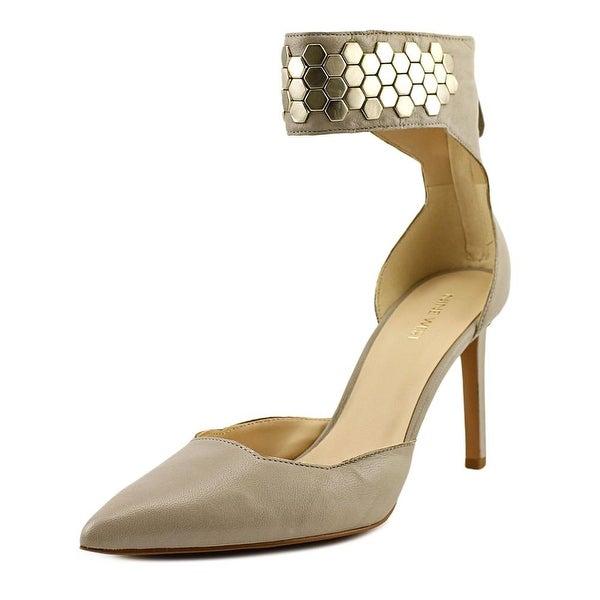 Nine West Cwercky Women Pointed Toe Leather Gray Heels