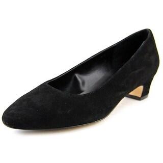 Vaneli Astyr Women Round Toe Suede Black Heels
