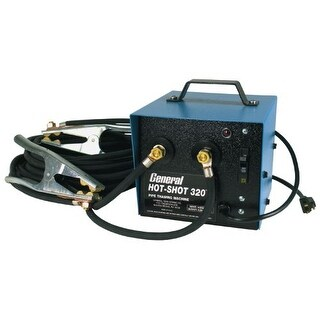General Pipe Cleaners HS320 Hot-Shot? 320 Amp Pipe Thawing Machine with Two 20 Ft. #2 Cables and Clamps - US Only