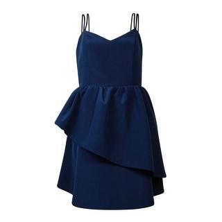 Keepsake Women's Spaghetti Strap Asymmetrical Tiered Dress - l