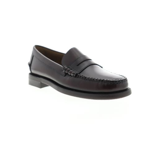 Sebago Classic Dan Brown Burgundy Mens Penny Loafers & Slip Ons