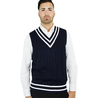 Men's Cable Cricket Vest (SV-222)