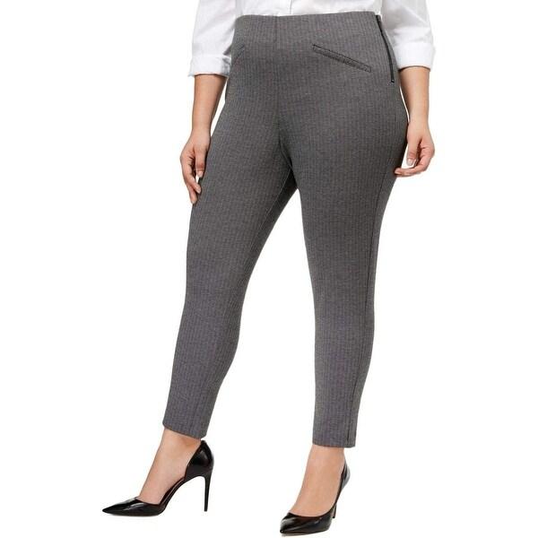 Anne Klein Gray Women's Size 6 Stretch Straight Dress Pants