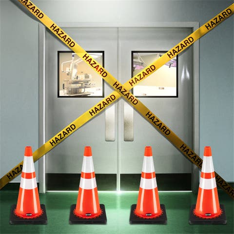 """21"""" PVC American Road Cone Black Chassis Reflective Cone Warning Cone"""