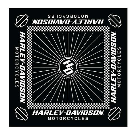 "Harley-Davidson Men's Ignition Checkered Flag Bandana - 24 x 24 in BA33488 - 24"" x 24"""