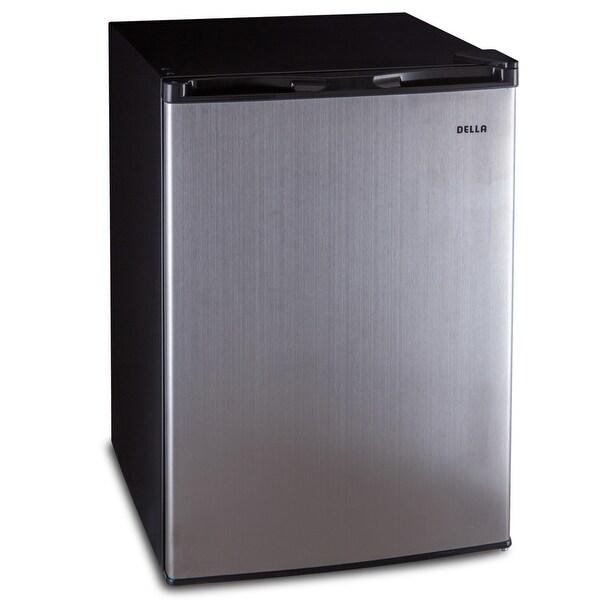 Della Compact Single Reversible Door Refrigerator Freezer, 4.5 cu. ft, Stainless Steel