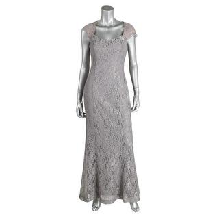Lauren Ralph Lauren Womens Lace Prom Evening Dress - 4