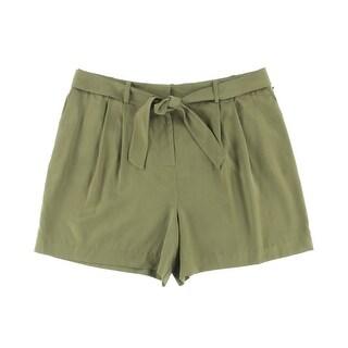 Vince Camuto Womens Serengeti Tencel Pleated Dress Shorts