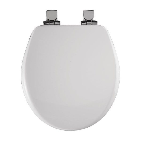Bemis 9170CHSL Round Close-Front Toilet Seat with Chrome Hinges and Lid with Whisper-Close� and STA-TITE� Seat Fastening System�