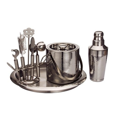 Deluxe Hammered Steel 9pc Bar Tool Set. Opens flyout.