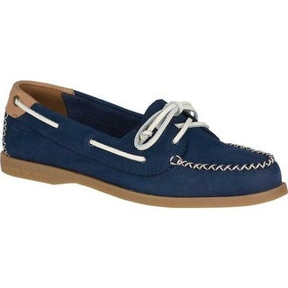Sperry Top-Sider Women's Authentic Original Venice Boat Shoe Navy Leather