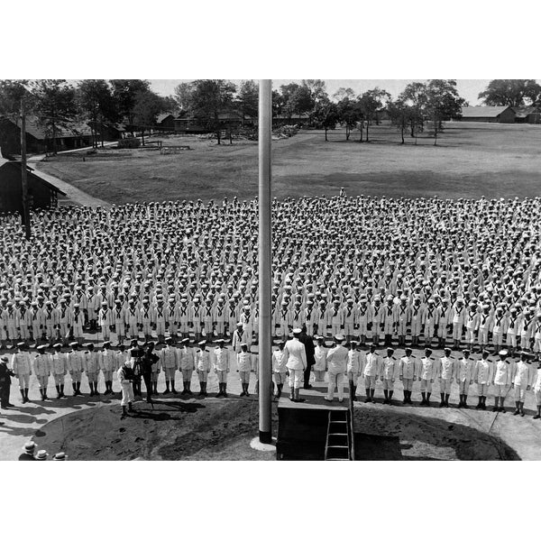 Secretary Of The Navy Daniels Making A Patriotic Speech To The Officers And  Men Of The Pelham Bay Naval Training Station On July