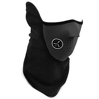 X-Ports Vented Neoprene and Fleece Windproof Adult Half Mask - Black