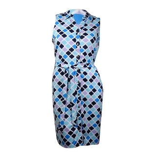 Charter Club Women's Button Down Sleeveless Dress - xL