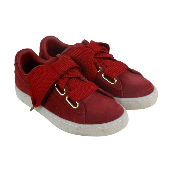 a6847a99a03 Shop Puma Heart Fab Womens Red Suede Lace up Sneakers Shoes - Free ...