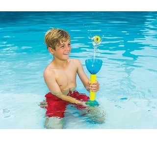 """14.5"""" Yellow and Blue Hover Catch Shooter Swimming Pool Water Toy"""