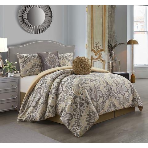 Porch & Den Summerfield Jacquard Medallion 6-piece Comforter Set