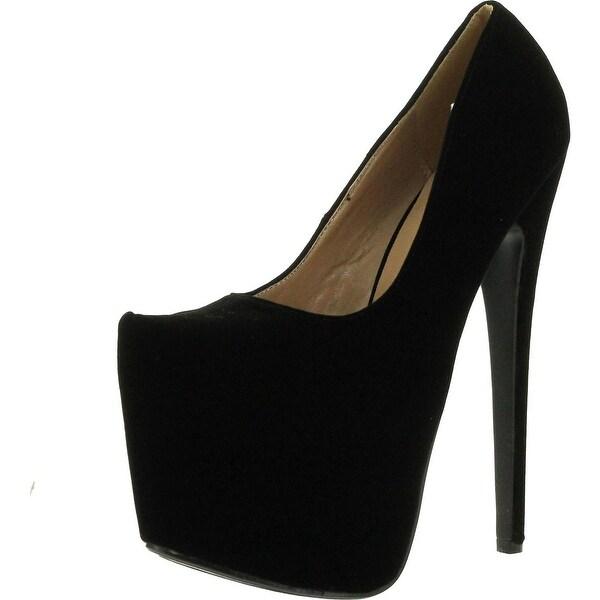 Delicacy Womens High-24 Stiletto Heel Platform Pump Sexy Shoes - Black