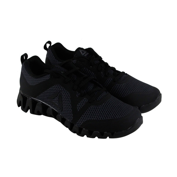 Reebok Zig Evolution 2.0 Mens Black Synthetic Athletic Running Shoes
