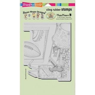 "Stampendous House Mouse Cling Stamp 7.75""X4.5""-Game Day"