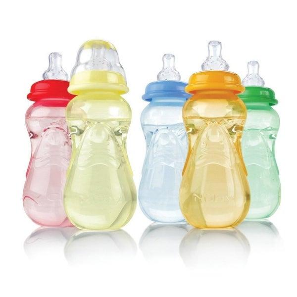 Nuby Standard Neck Non-Drip 7-oz Bottles - 3 Pack