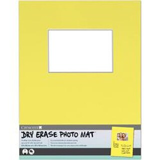 "Yellow - Dry-Erase 11""X14"" Photo Mat Holds 4""X6"" Photo"