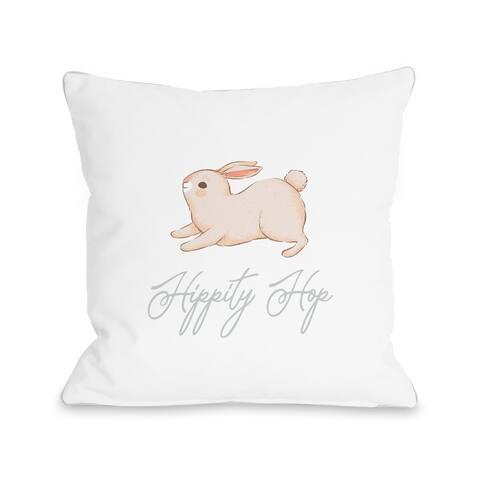 Hippity Hop Bunny - Throw Pillow