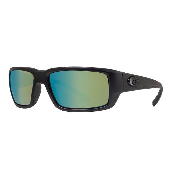 e7c7b059e416f Costa Del Mar Fantail TF01GMGLP Matte Black out 400G Green Mirror Pol  Sunglasses - matte blackout