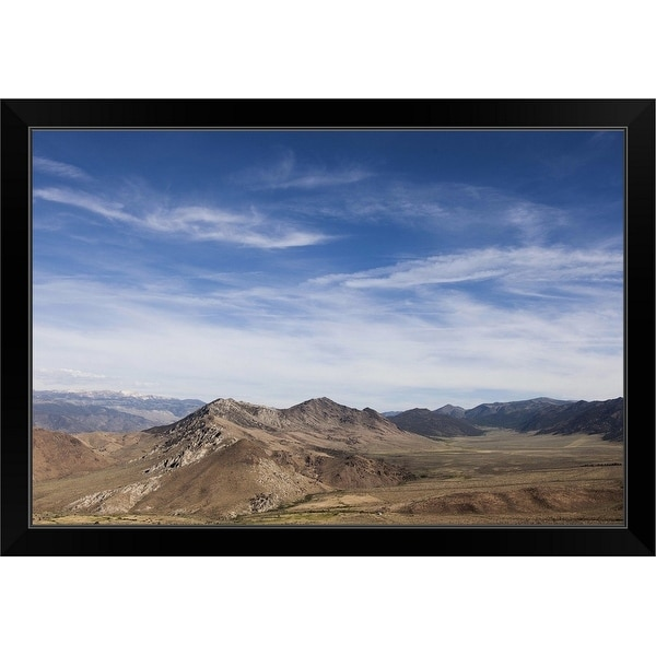 """""""Mountains and Sky"""" Black Framed Print"""